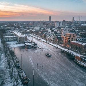 Piushaven Tilburg Sneeuw